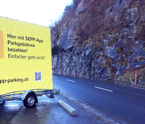 SEPP – Die Parkuhr-App in Interlaken (BE)