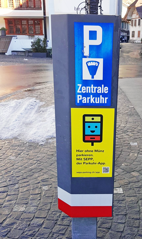 SEPP – Die Parkuhr-App in Interlaken
